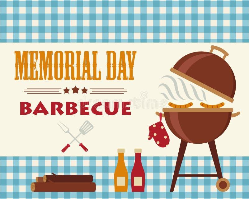 Memorial Day -barbecue royalty-vrije illustratie