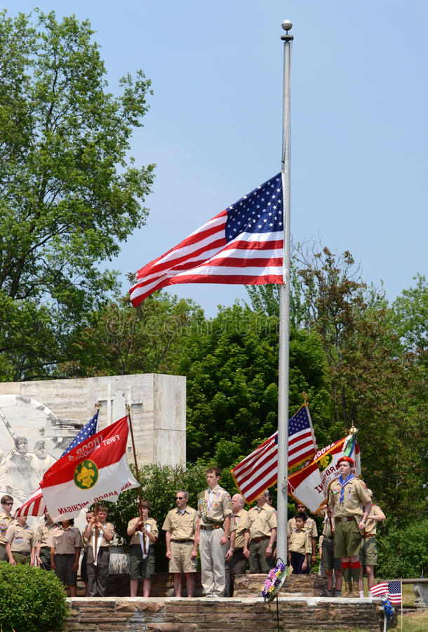 Download Memorial Day - Boy Scouts Respect The Flag Editorial Photo - Image: 25607941
