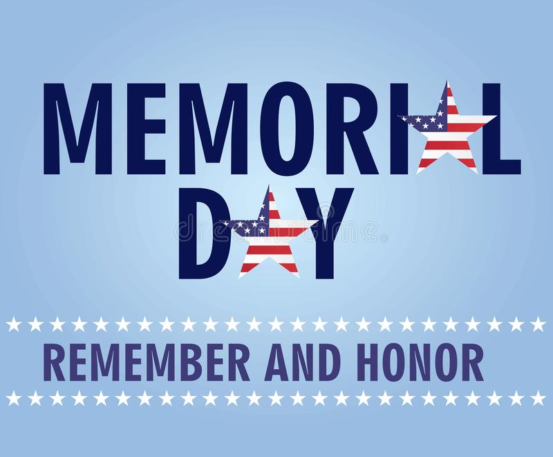 Memorial day card stock illustration