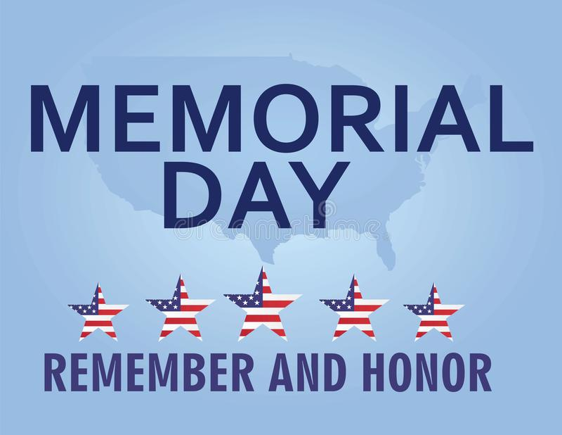 Memorial day card vector illustration