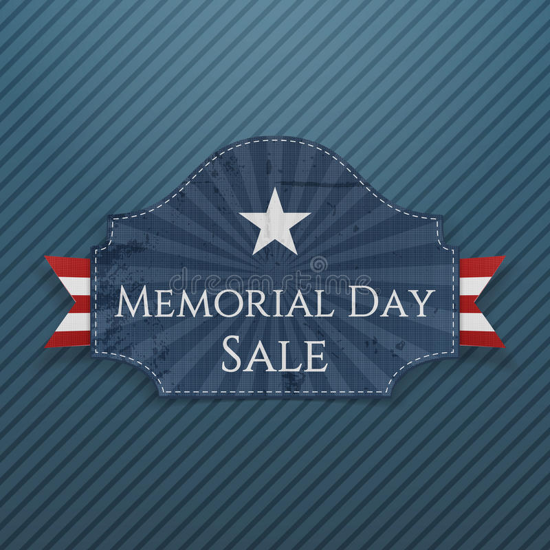 Memorial Day -de Affiche en het Lint van de Verkoopgroet stock illustratie