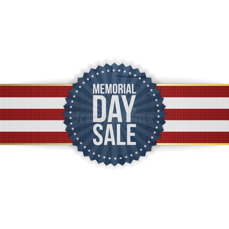 Memorial Day -de Banner en het Lint van de Verkoopgroet stock illustratie