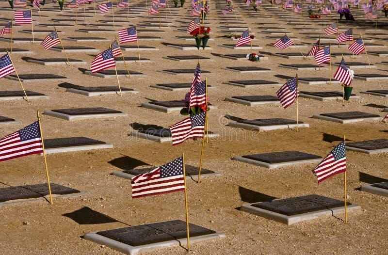 Memorial Day in de Woestijn stock afbeelding
