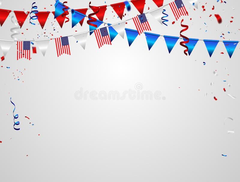Memorial Day die achtergrond begroeten Vierings vectorillustratie vector illustratie