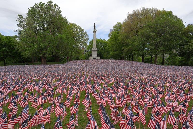 Memorial Day en los campos comunes de Boston imagen de archivo libre de regalías