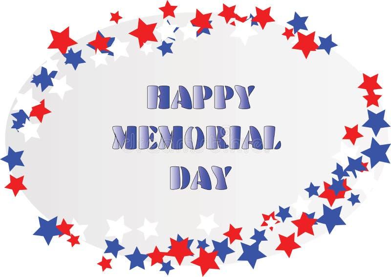 Memorial Day feliz libre illustration