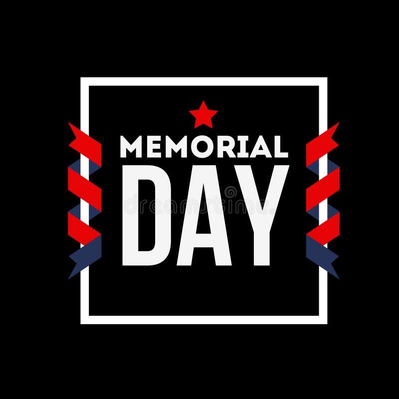 Memorial Day feliz ilustração do vetor