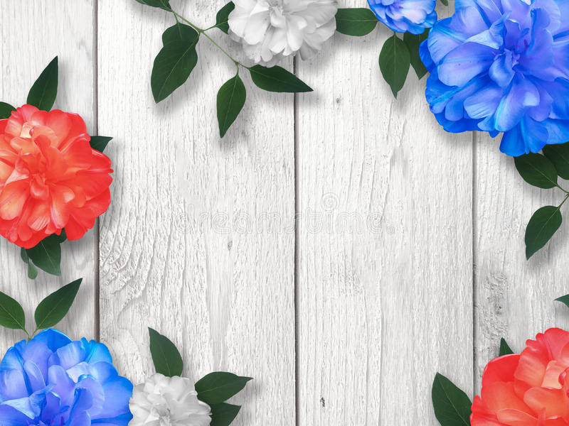 Memorial Day Flower Border Background Stock Image - Image of blue ...