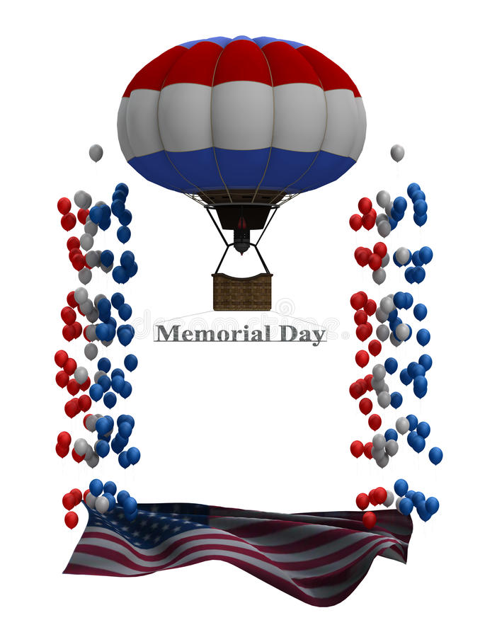 Memorial Day Flyer Graphic Stock Photography
