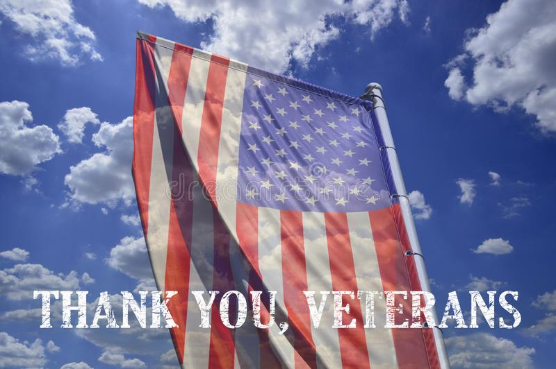 Memorial day honoring all who served and text `Thank you veterans`. Memorial day honoring all who served text `Thank you veterans royalty free stock photography