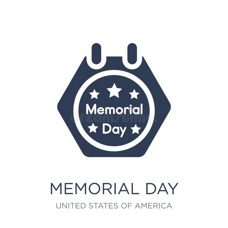 Memorial Day -Ikone Modische flache Vektor Memorial Day -Ikone auf Weiß stock abbildung