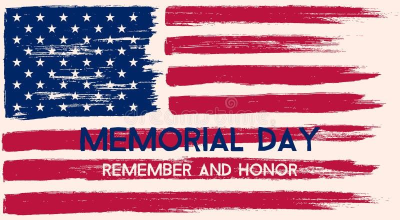 Memorial Day illustration. royalty free illustration