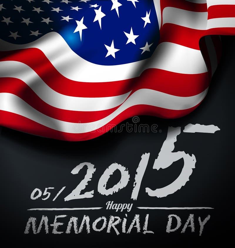 Memorial day illustration stock illustration