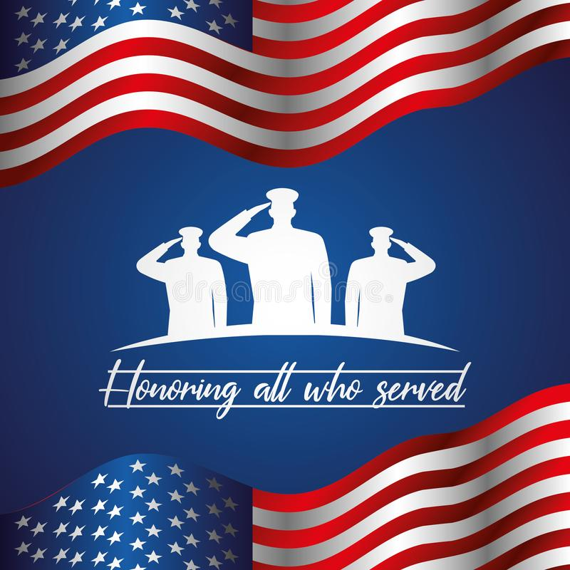 Memorial Day -kaart vector illustratie