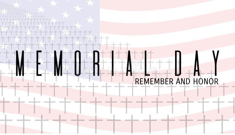 Memorial Day kort vektor illustrationer