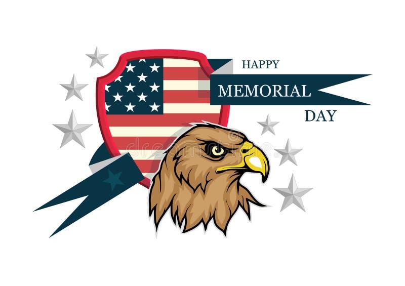 Memorial Day logo vector illustration