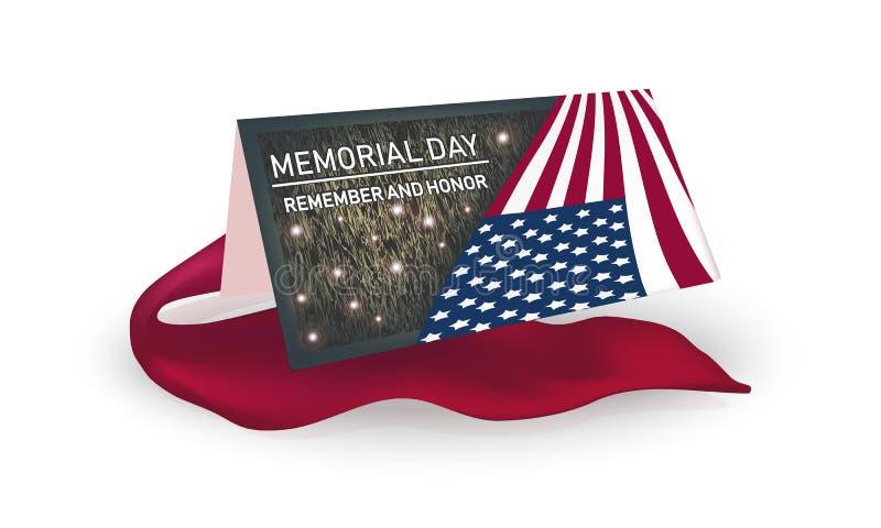 Memorial Day minns och honnoren - kort vektor illustrationer