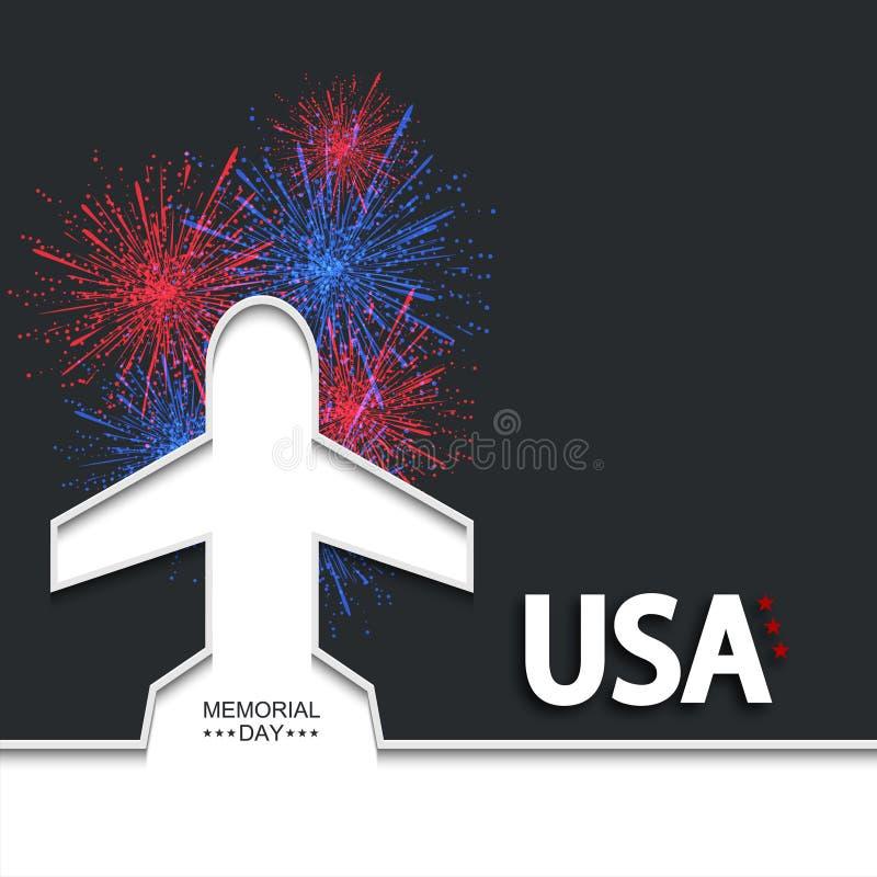 Memorial Day ou o 4 de julho moderno do vetor ilustração royalty free