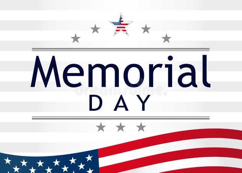 Memorial Day, Pamięta i honor z usa flagą, wektorowa ilustracja ilustracja wektor