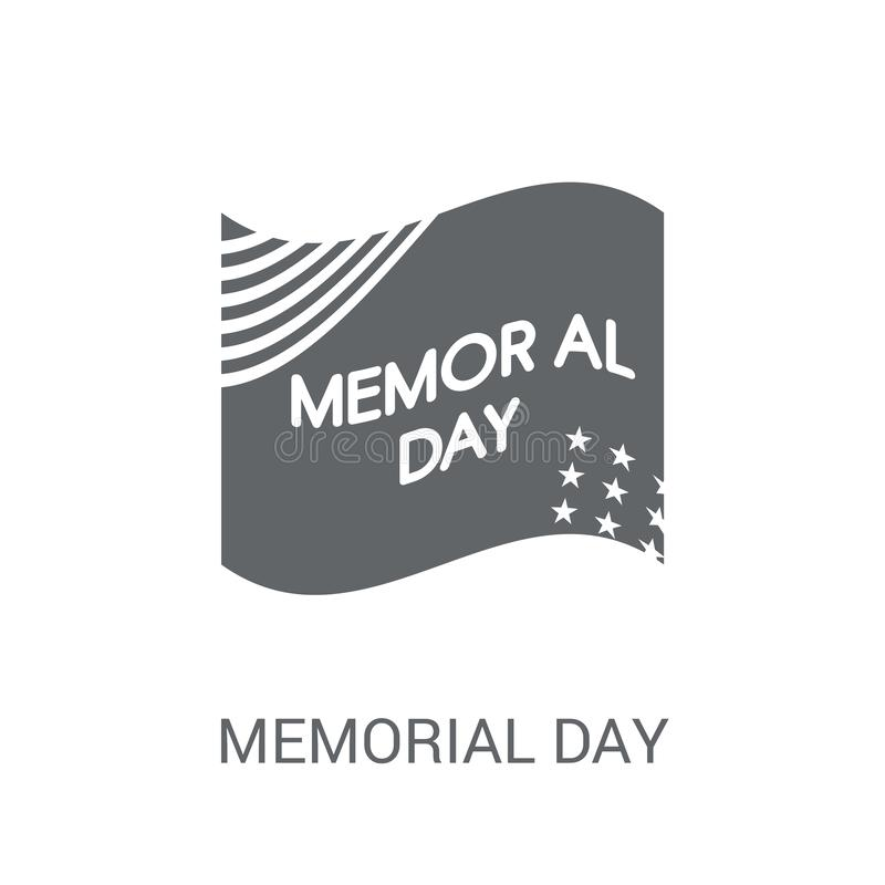 Memorial Day -pictogram  stock illustratie