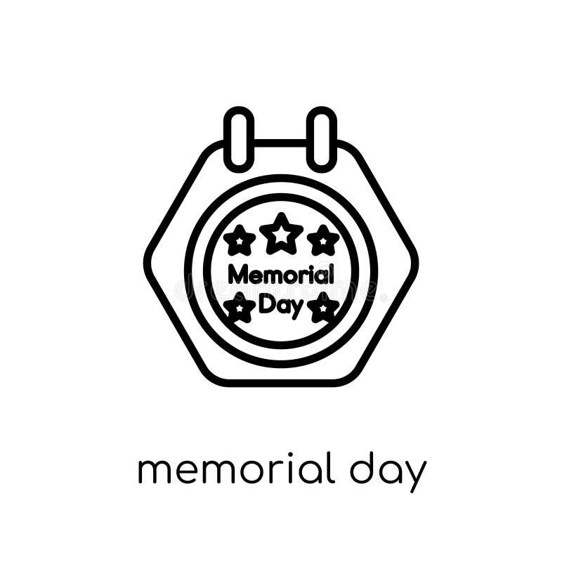 Memorial Day -pictogram In modern vlak lineair vectormemorial day stock illustratie