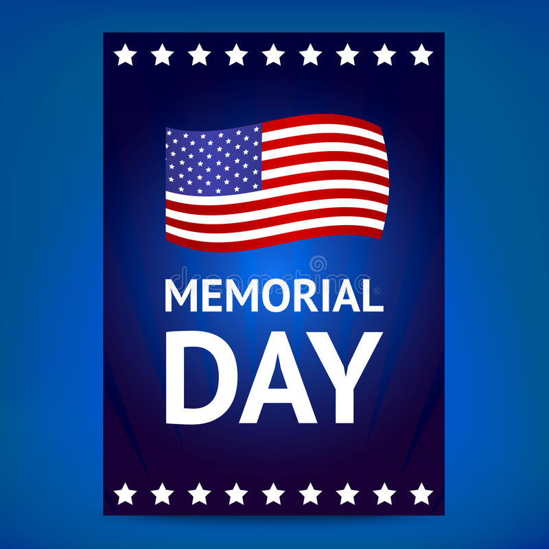 Memorial Day poster vector illustration