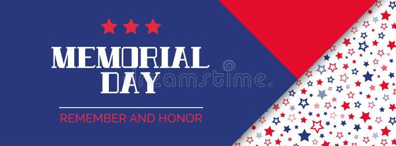Memorial Day Recuerde y honre Bandera del vector libre illustration