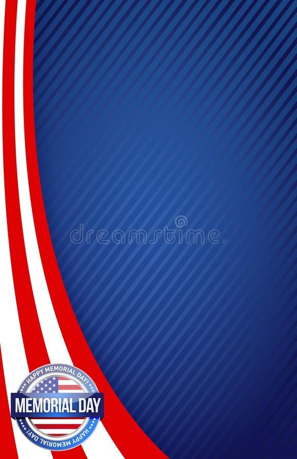 Memorial day red white and blue vector illustration