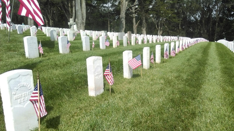Memorial Day Remebrance em San Francisco foto de stock