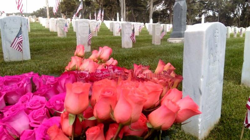 Memorial Day Remebrance in San Francisco royalty-vrije stock afbeelding