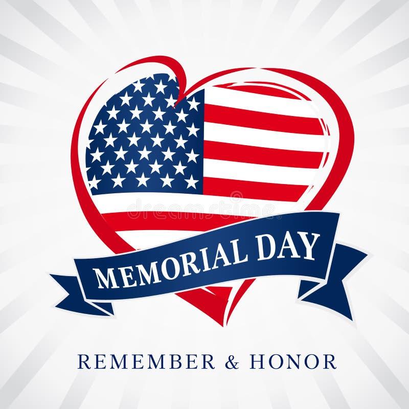 Memorial day remember vector illustration