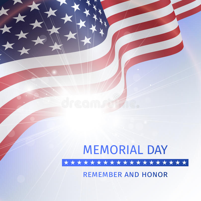 Captivating Download Memorial Day, Remember And Honor   Poster With The Flag Stock  Vector   Illustration