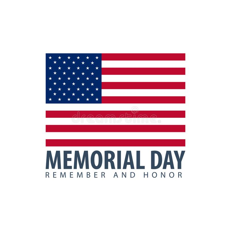 Memorial Day. Remember and Honor. USA. American Flag. vector illustration