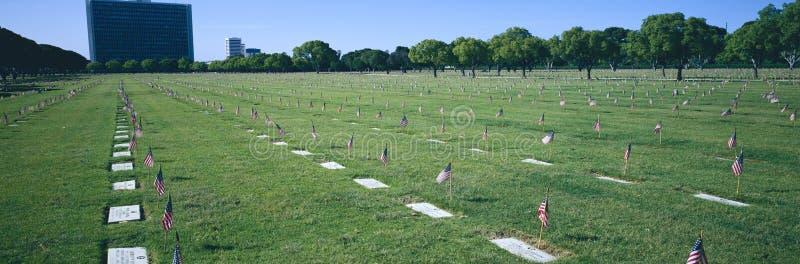 Memorial Day service på Los Angeles den nationella kyrkogården fotografering för bildbyråer
