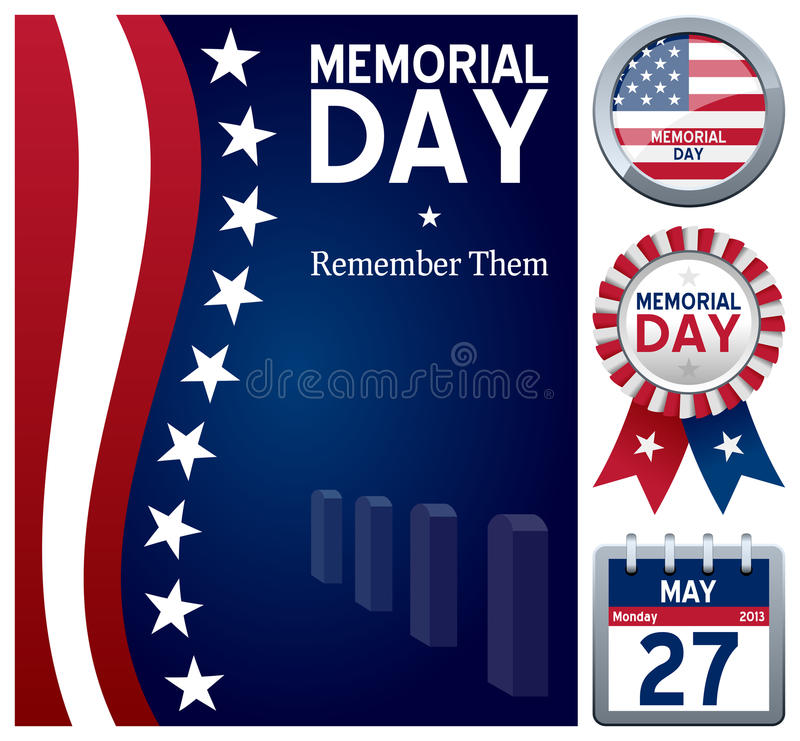 Memorial Day Set royalty free illustration