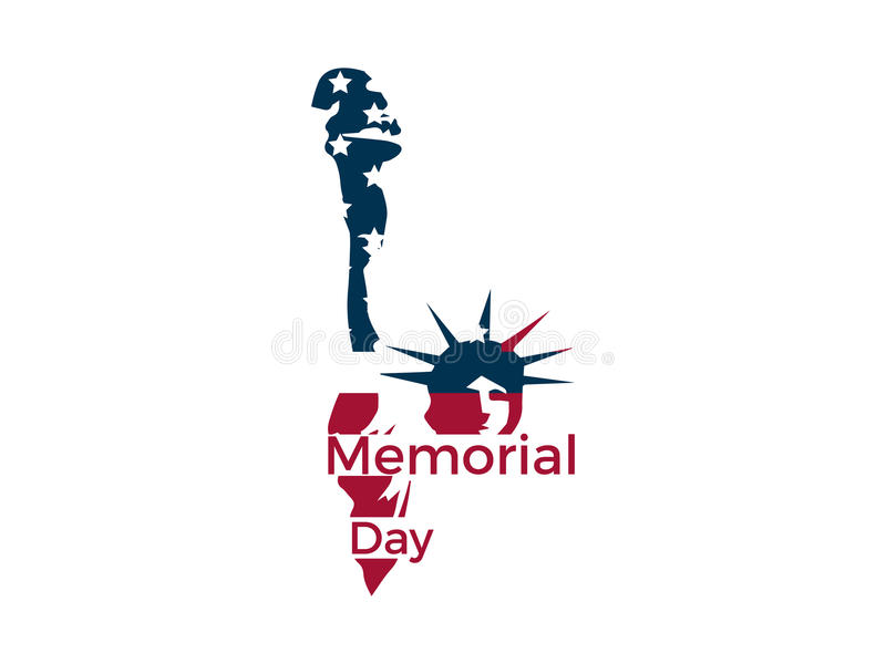 memorial day statue of liberty on a white background emblem logo rh dreamstime com statue of liberty lego marvel statue of liberty lego minifigure
