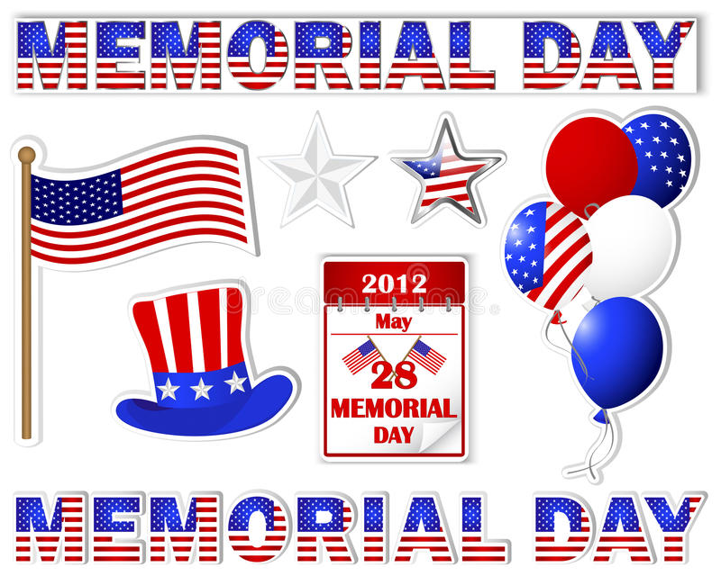 Download Memorial day stickers. stock vector. Illustration of beautiful - 24978672