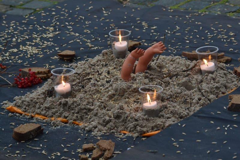 Memorial Day sur Holodomor en Ukraine photographie stock