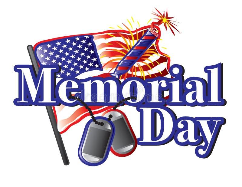 Memorial Day text stock illustrationer