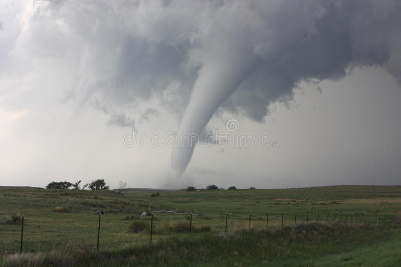 Memorial Day Tornado in Colorado. Peaceful tornado that moved across the countryside on Memorial Day in 2010 royalty free stock photography
