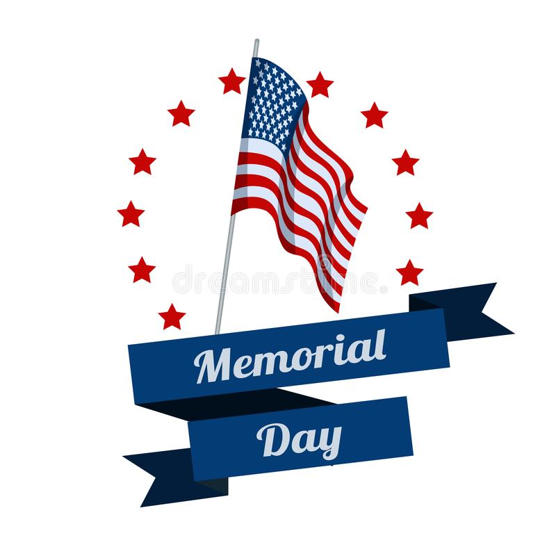Memorial Day. Typography design layout for USA Memorial Day events, sales, promotion vector illustrator royalty free illustration