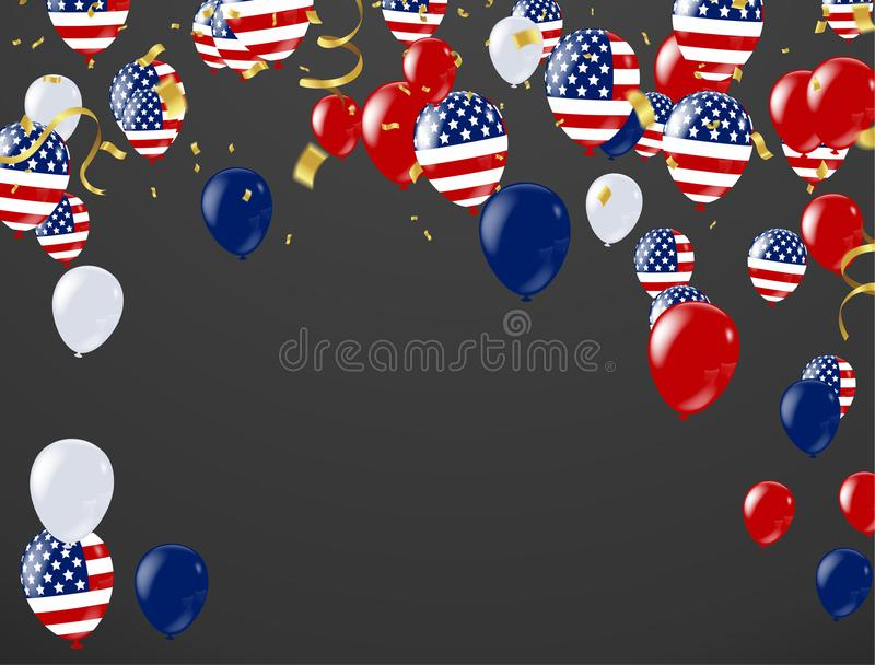 Memorial Day -Verkauf glücklicher Memorial Day -Hintergrund lizenzfreie abbildung