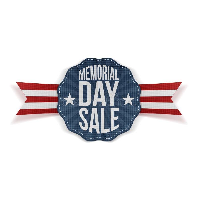 Memorial Day -Verkoop nationaal Embleem met Lint stock illustratie