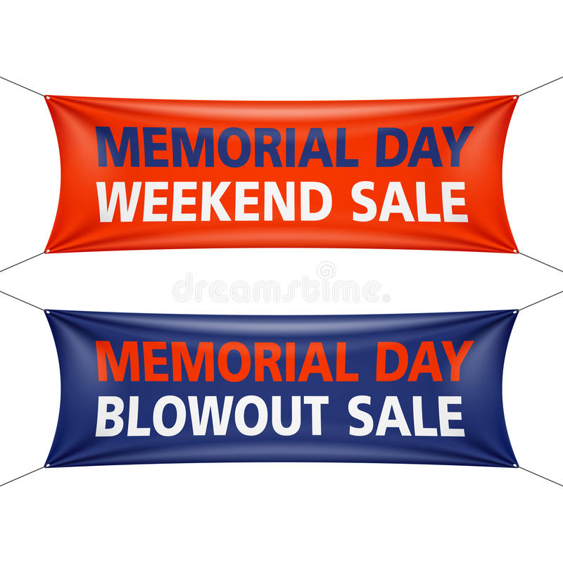 Memorial Day -Wochenenden-Verkauf lizenzfreie abbildung