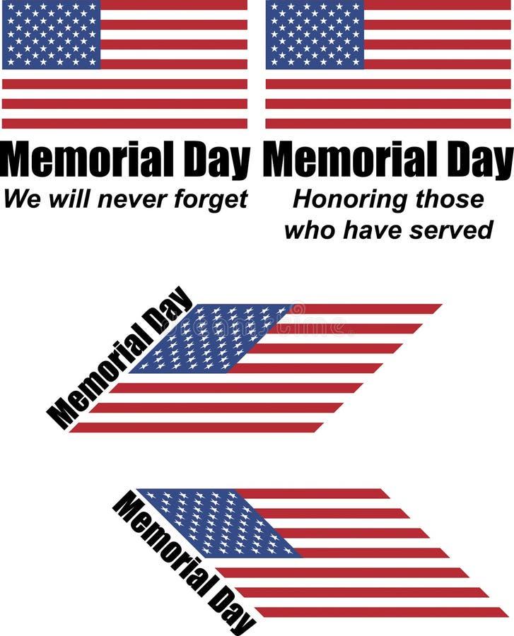 Memorial Day znaki royalty ilustracja