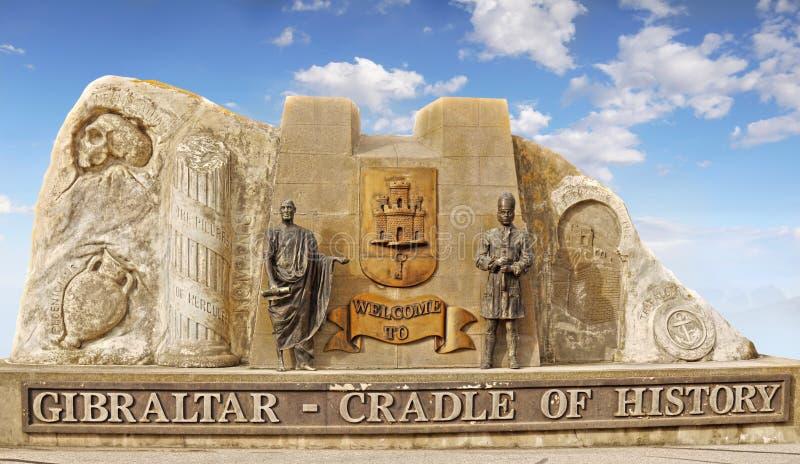 Memorial de Gibraltar - berço da história fotografia de stock royalty free