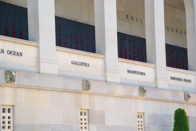 Memorial de guerra, Canberra imagem de stock