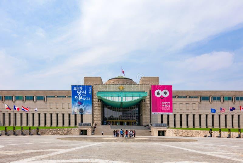 Memorial de guerra de Coreia em Seoul, Coreia do Sul imagens de stock