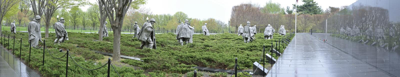 Memorial de Guerra da Coreia fotografia de stock