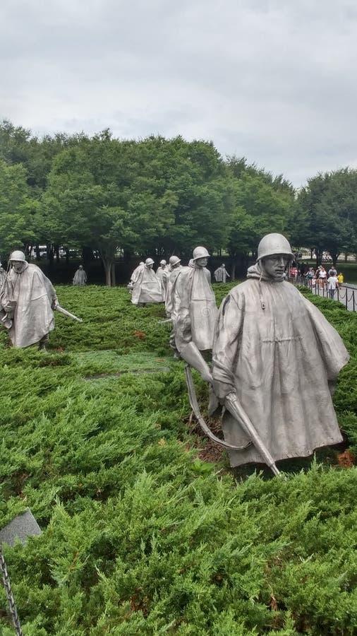 Memorial de Guerra da Coreia imagens de stock royalty free